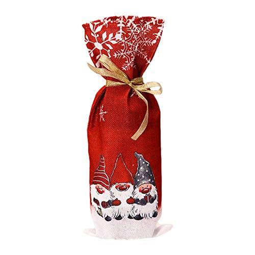 Gnomo sueco de Navidad para botella de vino tinto cubierta bolsas decoración de Navidad decoración del hogar fiesta Navidad chimenea árbol colgante decoración