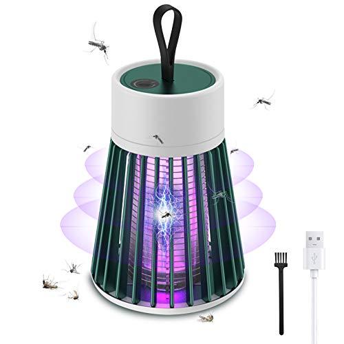 iPatio Lámpara Antimosquitos Eléctrico UV Antimosquitos Trampas UV Portátil Carga por USB Camping Repelente de Mosquitos Mata Mosquitos electrico UV lamparas atrapa Anti Mosquitos (Verde)