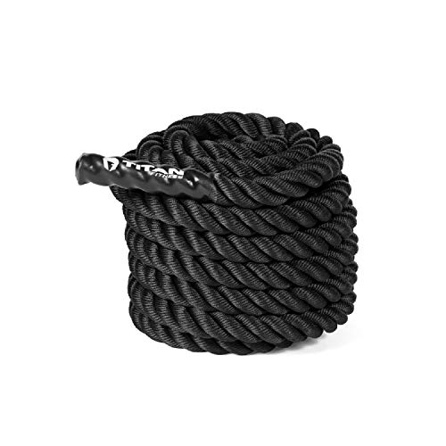 Titan Fitness 40 ft. Length 1.5 in. Conditioning Battle Rope for HIIT...