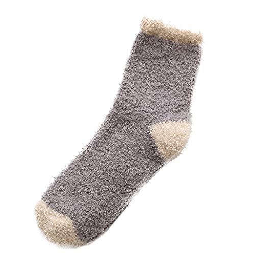 KaloryWee Damen Winter Wollsocken Teddy Samt Dicke Socken in Strümpfen Mittlere Strümpfe Mädchen Zuhause verdicken Schlafsocken Weich