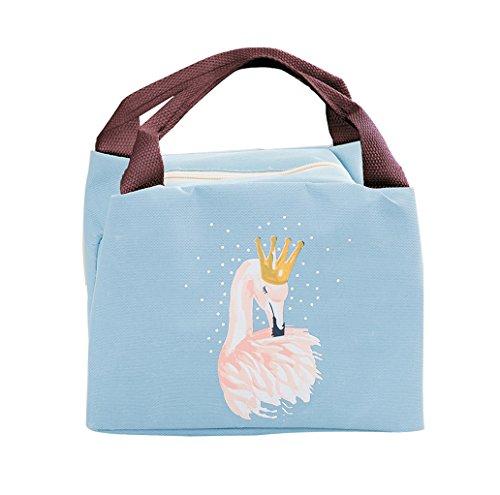 iSuperb Lunch-Taschen Wasserdichte Kühltasche Mtagessen Tsche Isoliert Lunch Bag für Erwachsene, Kinder, Mädchen, Frauen 21x17x15 CM (Blau)