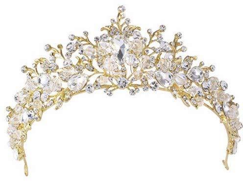 Fendii Fendii Gouden Koreaanse Bruid Strass Kroon, Bruiloft Accessoires, Luxe high-end Hoofdband Haaraccessoires