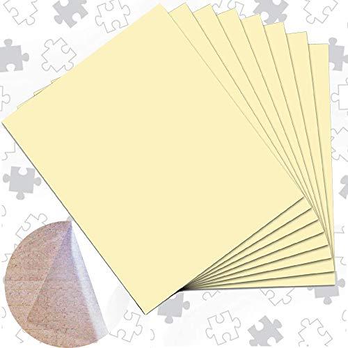 ENYACOS 8 Super Puzzle Kleber transparent,Magic Puzzle fix Folie,Puzzle Folie selbstklebend,Optimal für 2 x 1000 Teile oder 4 x 500 Teile Puzzle (8)