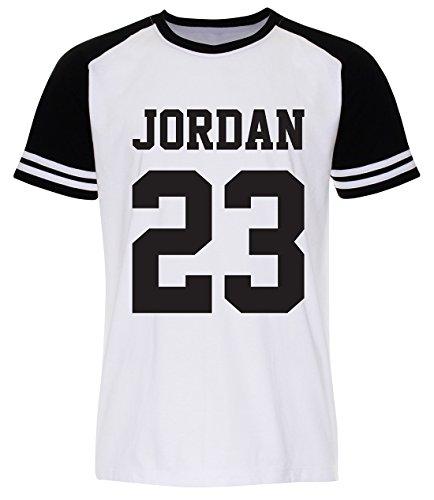 Pallas Camiseta de deporte unisex, diseño del jugador de baloncesto Jordan White Sleeve Black XL