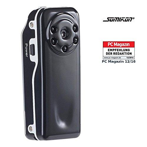 Somikon Mini HD Überwachungskameras: Mini-Überwachungs-Cam Raptor-720.ir mit HD-Video & Infrarot-Nachtsicht (Minicamera)