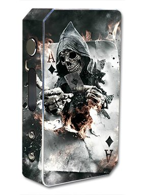 Skin Decal Vinyl Wrap for Pioneer 4 You ipv3 LI 165w watt Vape Mod Box / Ace Diamonds Grim Reeper Skull