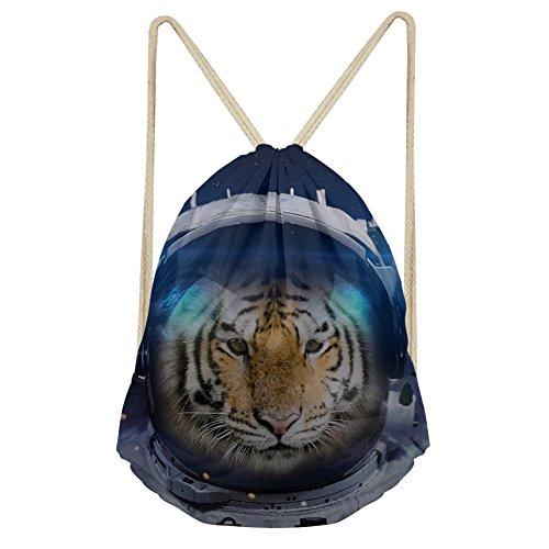 Showudesigns Espace Animal pour adultes/enfants Sac à dos avec cordon pour Trainer Fitness extérieur M animal 5