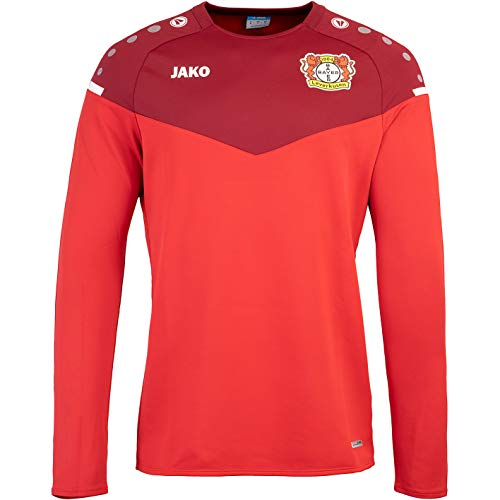 JAKO Bayer 04 Leverkusen Champ 2.0 Sweater Sweatshir (M, red/Bordeaux)