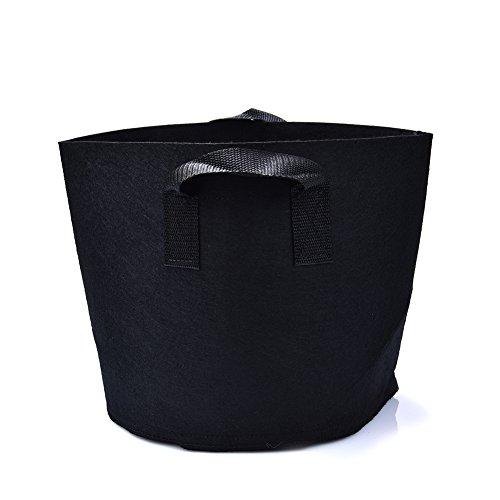 Sacs de plantation Avec poignées Tissu respirant non tissé et perméable Dégradable Noir Style A_20Gallons