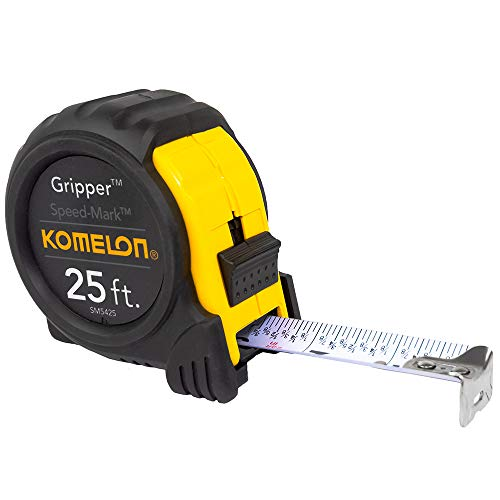 "top rated Comeron SM5425 Speedmark Gripper Acrylic Coated Steel Tape Measure, 1 ""x 25ft, White 2020"