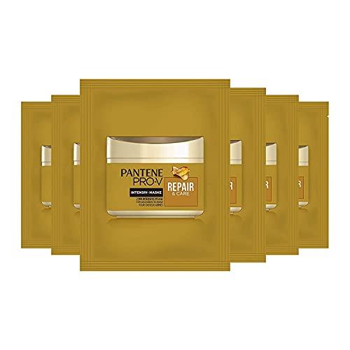 Pantene Pro-V Repair & Care Haarmaske, 6er Pack (6 x 25 ml), Haarkur, Haare Kur, Haarpflege Für Trockene Haare, Für Strapaziertes Trockenes Haar, Haarpflege Glanz, Für...