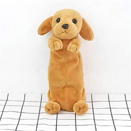 shenlanyu Estuche para lápices de peluche con diseño de perro Husky de dibujos animados, para la escuela, suministros de oficina, estuche de regalo para niños GoldenRetriever