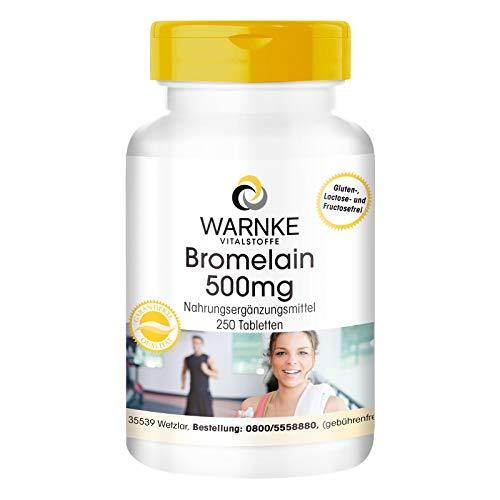 Bromelain 500mg - 1200 F.I.P - natürliches Ananasenzym - vegan & hochdosiert - 250 Tabletten - Großpackung