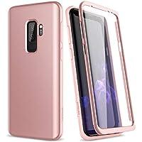 SURITCH Funda para Samsung Galaxy S9 Plus Silicona 360 Grados Bumper Flexible TPU Delantera y Trasera Irrompible Caso Carcasa Samsung Galaxy S9 Plus - Oro Rosa