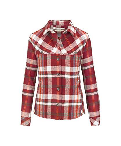 Woolrich Women's Eco Rich Oxbow Bend Flannel Shirt Jac, Tamarind, L