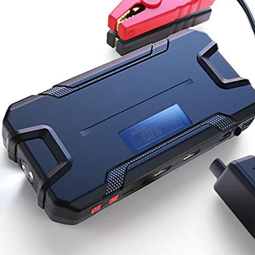 ZXWNB 12000 Mah Voiture Puissance De Démarrage d'urgence Mini Batterie De Voiture avec Allumage Électrique Charge Voiture Au Trésor Artefact De Puissance Mobile De Rechange12v,Noir,B