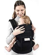 Maydolly 360 siateczkowe nosidełko dla noworodka do malucha, modne nosidełko na twarz i na zewnątrz, z przodu i z tyłu, dla noworodków i małych dzieci 18-12 kg jasnoszary