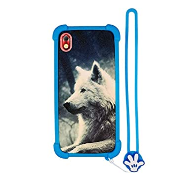 Case for BLU Grand M2 Case Silicone Border + PC Hard backplane Stand Cover Lang
