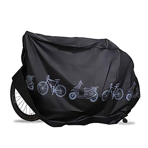 KLAS REMO Housse de Vélo, Housse Protection Velo pour Vélo étanche Anti poussière Protection UV Housse de Pluie de Vélo icyclette Housse Bache Velo exterieu pour VTT et Vélo de Route (Noir)