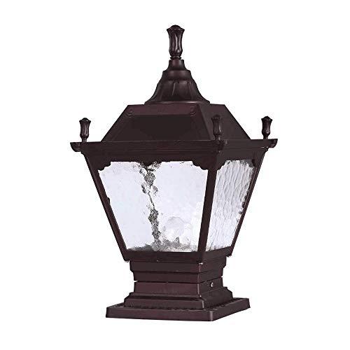 Naiyn Victoria tradicional al aire libre bolardo al aire libre pilar retro impermeable IP65 Post Light Patio Garden Aluminio Columna Lámpara Decoración Parques Comunidad Césped E27 Post Lantern