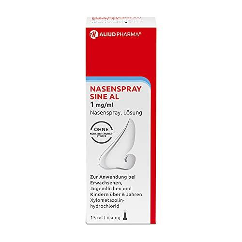 ALIUD PHARMA Nasenspray sine AL 1 mg/ml Nasenspray, Lösung 15 ml: Mit abschwellender Wirkung bei Schnupfen mit verstopfter Nase