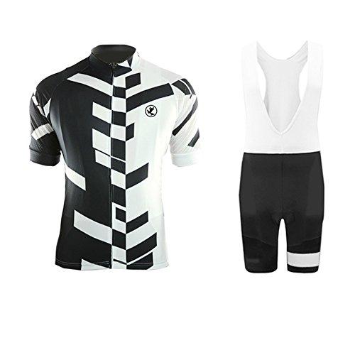 Uglyfrog Bike Wear Outdoor Sports Mountain Bike Cycling Jersey Short Sleev+Bib Short Suit Men's Bike Summer Triathlon Clothing-Two Pieces UKDTTZ03
