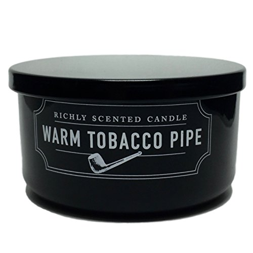 DW Home Warm Tobacco Pipe Richly Scented Candle Small Two Wick Size