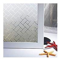 GUOYE プライバシーウィンドウフィルム浴室のシャワーのドアホームオフィスのWindows用の非粘着つや消し窓ガラスステッカーアンチUVインテリア (Color : 75x100cm)