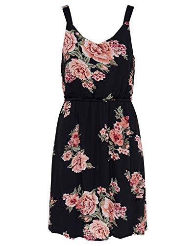 ONLY Damen Kleid ohne Ärmel Blumenprint 38Black 2