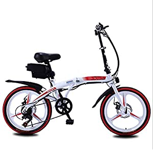 """Electric Bikes HWOEK Folding Electric Bike for Adults, 250W Motor 20"""" Eco-Friendly Electric Bicycle with Removable 36V 8AH/10 AH Lithium-Ion Battery 7 Speed Shifter Disc Brake [tag]"""