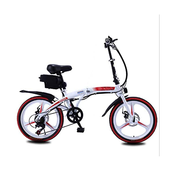 "Electric Bikes HWOEK Folding Electric Bike for Adults, 250W Motor 20"" Eco-Friendly Electric Bicycle with Removable 36V 8AH/10 AH Lithium-Ion Battery 7 Speed Shifter Disc Brake [tag]"