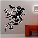 Autocollant De Skateboard Autocollant De Sport De Longboard Chambre Enfant Affiche Vinyle Autocollant Décoratif Mural 58x73cm