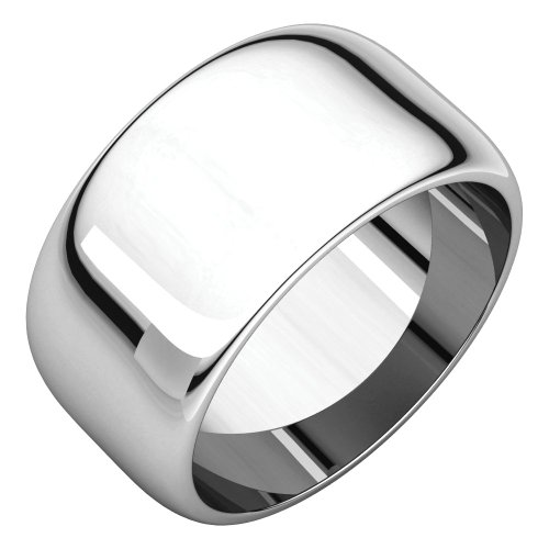 FB Jewels Solid Sterling Silver 5mm Half-Round Wedding Band