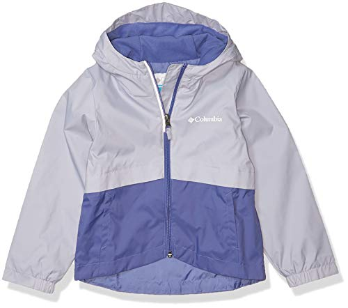 Columbia Girls' Toddler Rain-Zilla Jacket, Waterproof, Reflective, African Violet/Twilight, 4T