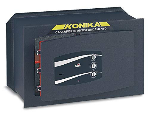 SCEK3R139 Kluis voor 3 combinaties en sleutels, 13,9 l volume