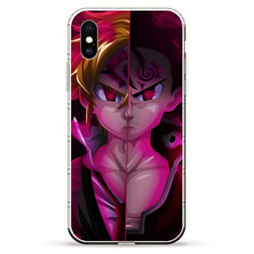 Mosku Ultra Thin Clear Soft Rubber Protect Case Cover for Apple iPhone XS, Seven Deadly-Sins Meliodas 3