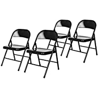 4-Pack OEF Furnishings Steel Folding Chairs