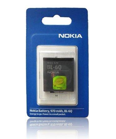 Original Akku Nokia BL-6Q für 6700c, 6700c ILLUVIAL 970 mAh LI-ION BLISTER