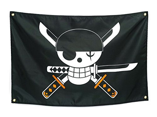 CoolChange One Piece Flagge mit Jolly Roger von Lorenor Zorro 87x59cm