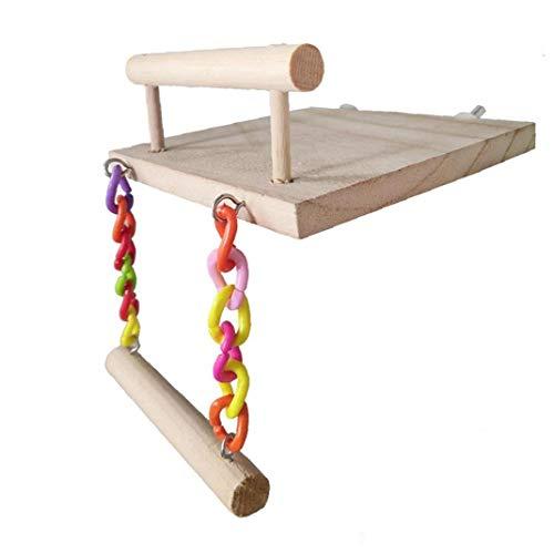 EElabper pájaro del Juguete del Loro oscilación Perchas Jaula de Subida de escaleras Trampolín Escalera oscilación pájaro Perca Chew Toys