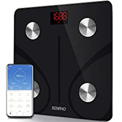 Renpho smart app works in connection with fitness apps. Easy setup app works with Samsung Health, Fitbit App, Google Fit, and Apple Health. Renpho already has millions of happy global users. 13 essential body measurements. The scale shows body weight...