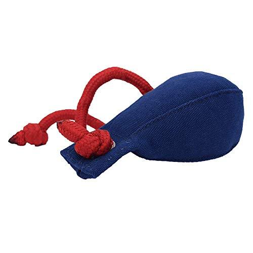 Romneys Dummyball 150g - Robustes Material mit extra langem Wurfseil; für die Such- und Markierfähigkeit (blau)