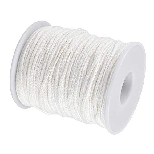 Candle Wicks 61 m Braided Cotton Candle Wicks Round Oil Lamp Wick String Line Low Smoke Universal Wick Spool Candle Supplies for DIY Candle Making Craft Gift