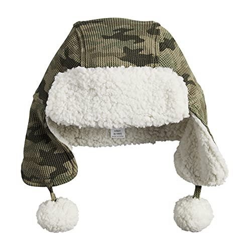 Mud Pie Baby Boys' Camo Sherpa Hat, 2T-5T