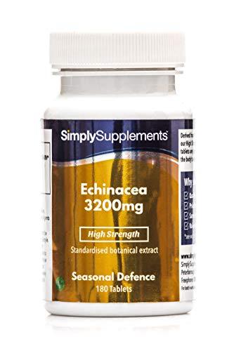 Equinacea 3200mg - ¡Bote para 1 año! - Apta para veganos - 360 Comprimidos - SimplySupplements