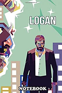 Notebook: This Logan Wallpaper Colorfull Pop Art Wpap , Journal for Writing, College Ruled Size 6