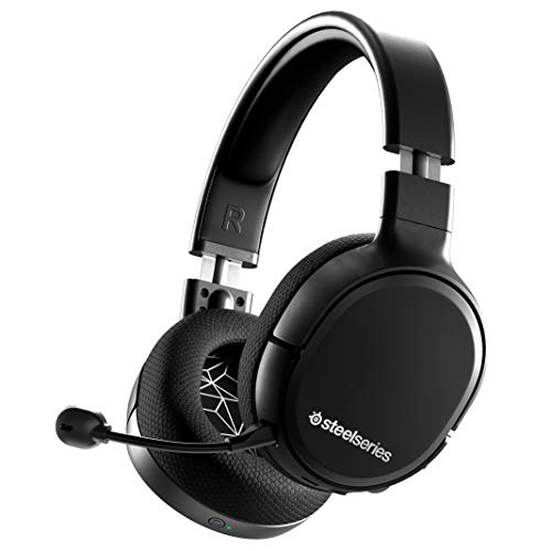 SteelSeries Arctis 1 Wireless Gaming Headset – USB-C Wireless – Detachable ClearCast Microphone – For Nintendo Switch, PS4/PS5, PC, Android – Black