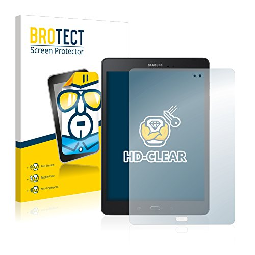 BROTECT Schutzfolie kompatibel mit Samsung Galaxy Tab A 9.7 (2 Stück) klare Bildschirmschutz-Folie