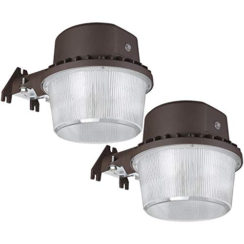 TORCHSTAR Dusk to Dawn Area Light with Photocell, 5000K Daylight Outdoor Security Floodlight, ETL-Listed for Yard Patio, Bronze, Pack of 2