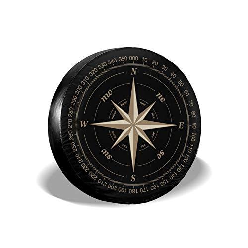 TianHeYue Kompass Rose Ersatz-Reifenabdeckung, UV-Schutz, für Jeep, Anhänger, Wohnmobil, SUV und viele Fahrzeuge,...